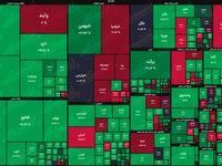 نقشه بازار سهام بر اساس ارزش معاملات/ نسیم بهاری در بازار سرمایه بالاخره وزید
