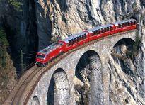 ترسناکترین مسیر عبور قطار +عکس