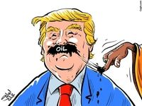 عربستان اینطوری سبیل ترامپ را چرب میکند! (کاریکاتور)