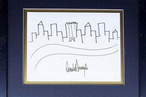 اثر هنری ترامپ ۲۹هزار دلار فروخته شد +عکس
