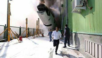10 مصدوم در آتش سوزی فرودگاه امام