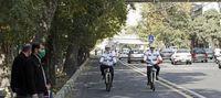 پلیس دوچرخه سوار در تهران +عکس