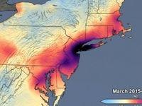 تصاویر ناسا از کاهش آلودگی هوا در آمریکا