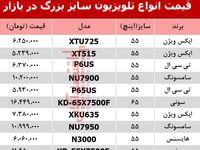 قیمت انواع تلویزیون سایز بزرگ در بازار؟ +جدول