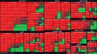 نمای بورس امروز در پایان نیمه اول معاملات / افت ۴۳هزار واحدی شاخص کل
