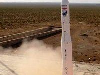 اولین فیلم از پرتاب موفق نخستین ماهواره نظامی ایران