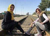 متین ستوده و سمیرا حسینی روی ریل قطار +عکس