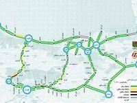 وضعیت راههای شمالی کشور + نقشه