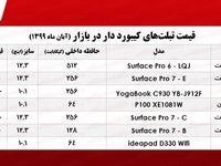 قیمت تبلت کیبورد دار در بازار +جدول