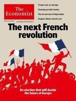 طرح جلد مجله اکونومیست درباره انتخابات آتی ریاست جمهوری در فرانسه