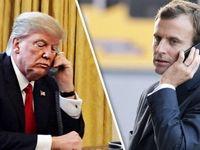 ترامپ و ماکرون درباره ایران گفتوگو کردند