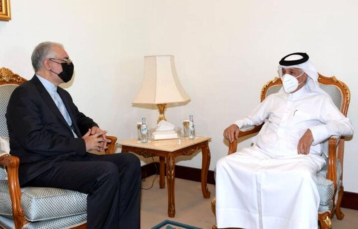 سفیر ایران با وزیر مشاور در امور خارجی قطر رایزنی کرد