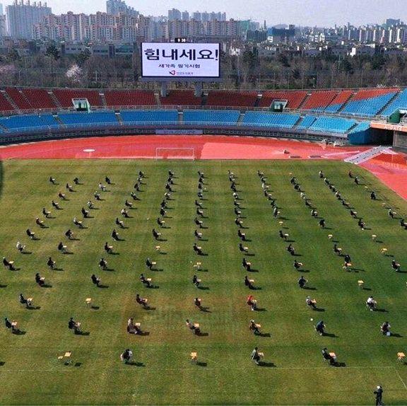کرونا قانون برگزاری آزمون در کره جنوبی را تغییر داد +عکس