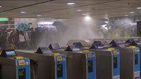 تخریب ایستگاه متروی «شاتین» توسط معترضان هنگ کنگی +فیلم