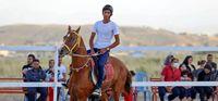 مسابقات پرش با اسب در بجنورد +تصاویر