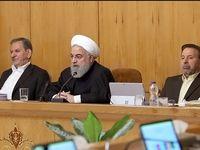 رییس جمهور در جلسه هیات دولت امروز +عکس