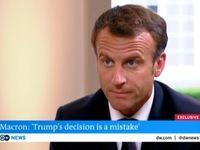 مکرون:خروج آمریکا از برجام اشتباه است