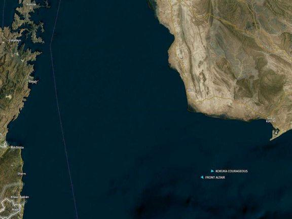 محل وقوع حادثه در دریای عمان +عکس