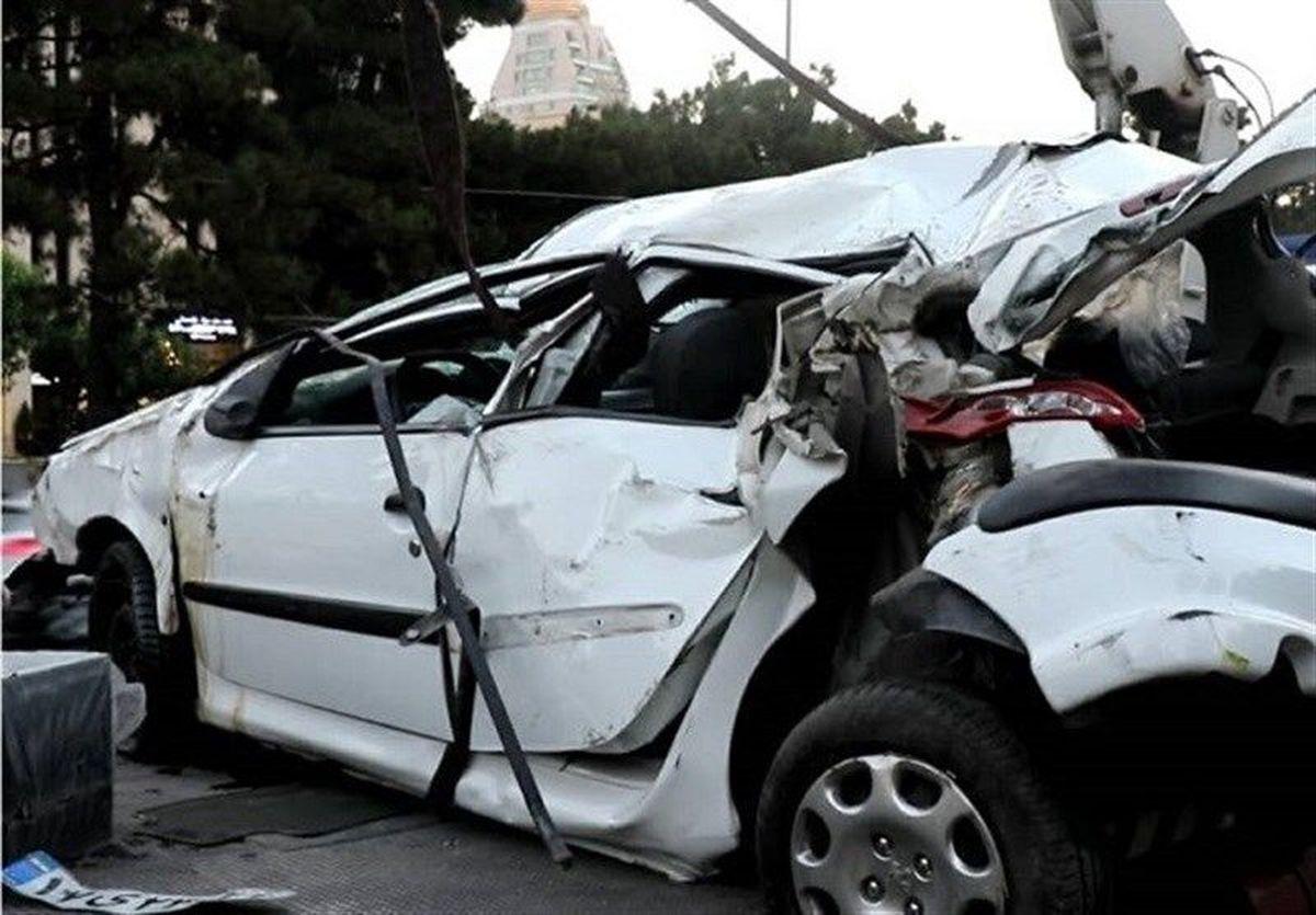 واژگونی پژو۲۰۶ چهار کشته و مجروح برجای گذاشت