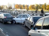 8 مصدوم در تصادف زنجیرهای در جاده چالوس