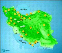 وضعیت آبوهوای امروز کشور +نقشه