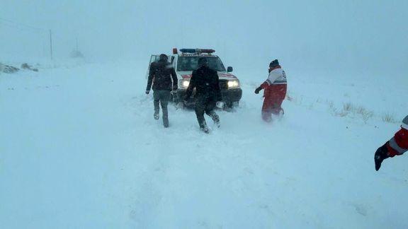برف راه خلخال - اسالم را بست