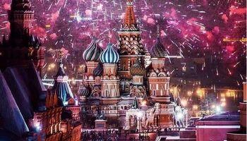 عکسی دیدنی از مسکو در شب کریسمس