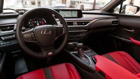 2019-Lexus-UX-F-Sport-interior-flare-red-1