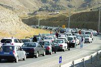 محور جاده کرج-چالوس زیربار ترافیک سنگین