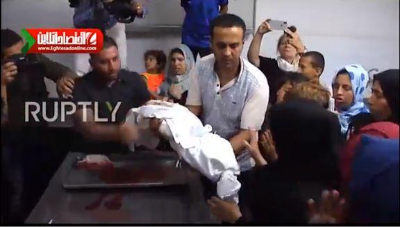 مرگ دلخراش کودک ۸ماهه فلسطینی در نوار غزه +فیلم
