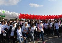 دختران و پسران سوری در جشن رنگ +عکس