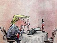 ترامپ برای مذاکره با ایران آماده شد! (کاریکاتور)