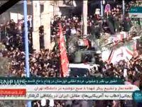 ورود خودرو حامل پیکر سردار سلیمانی به میان مردم خوزستان +فیلم