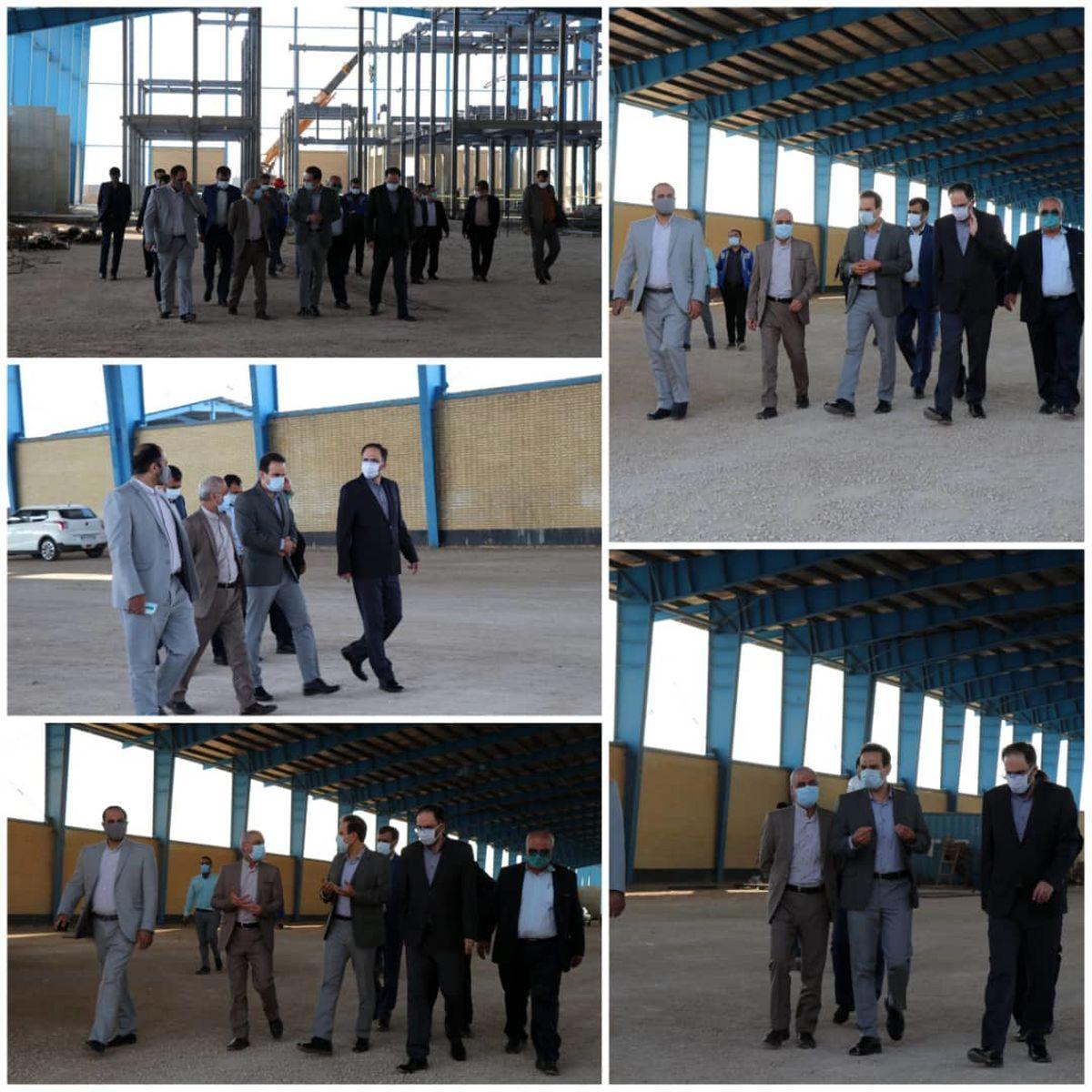 بازدید سرپرست حراست شستا و صدر تامین از پروژه انتقال شرکت پشم شیشه ایران