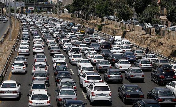 ۱۱ درصد؛ افزایش تعداد خودروهای در حال تردد
