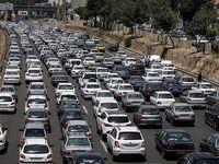 وجود ترافیک سنگین در آزادراه تهران-کرج