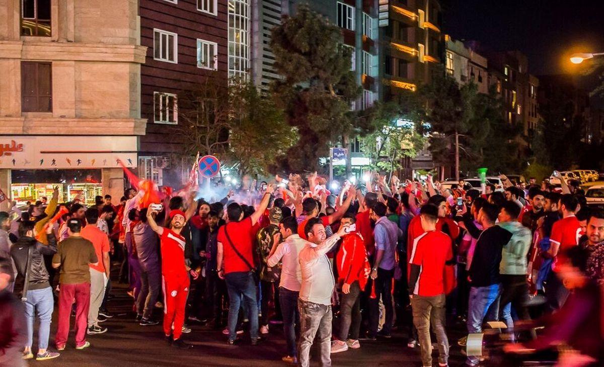شادی تهرانی ها پس از قهرمانی پرسپولیس
