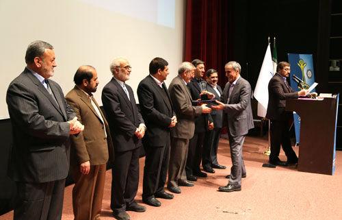 اعطای تقدیرنامه و تندیس سه ستاره جایزه ملی تعالی سازمانی به بانک سینا