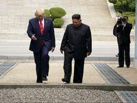 لحظه دیدار ترامپ و کیم در کره جنوبی +فیلم