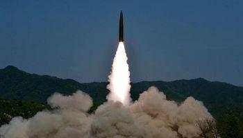 آزمایش دو موشک کوتاه برد در کره شمالی +تصاویر