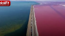 دریاچه آبی صورتی! +فیلم