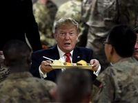 بوقلمون سرو کردن ترامپ برای سربازان +عکس