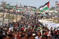 هفتادو دومین راهپیمایی مردم فلسطین در نوار غزه +فیلم