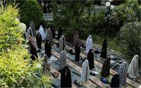 نماز عیدسعید فطر در دانشگاه تهران +تصاویر