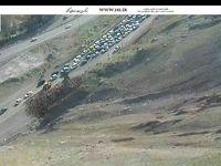 ترافیک نیمهسنگین در جاده چالوس