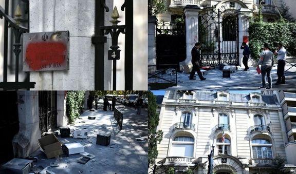 توییت سفارت فرانسه در پی تعرض به سفارت ایران