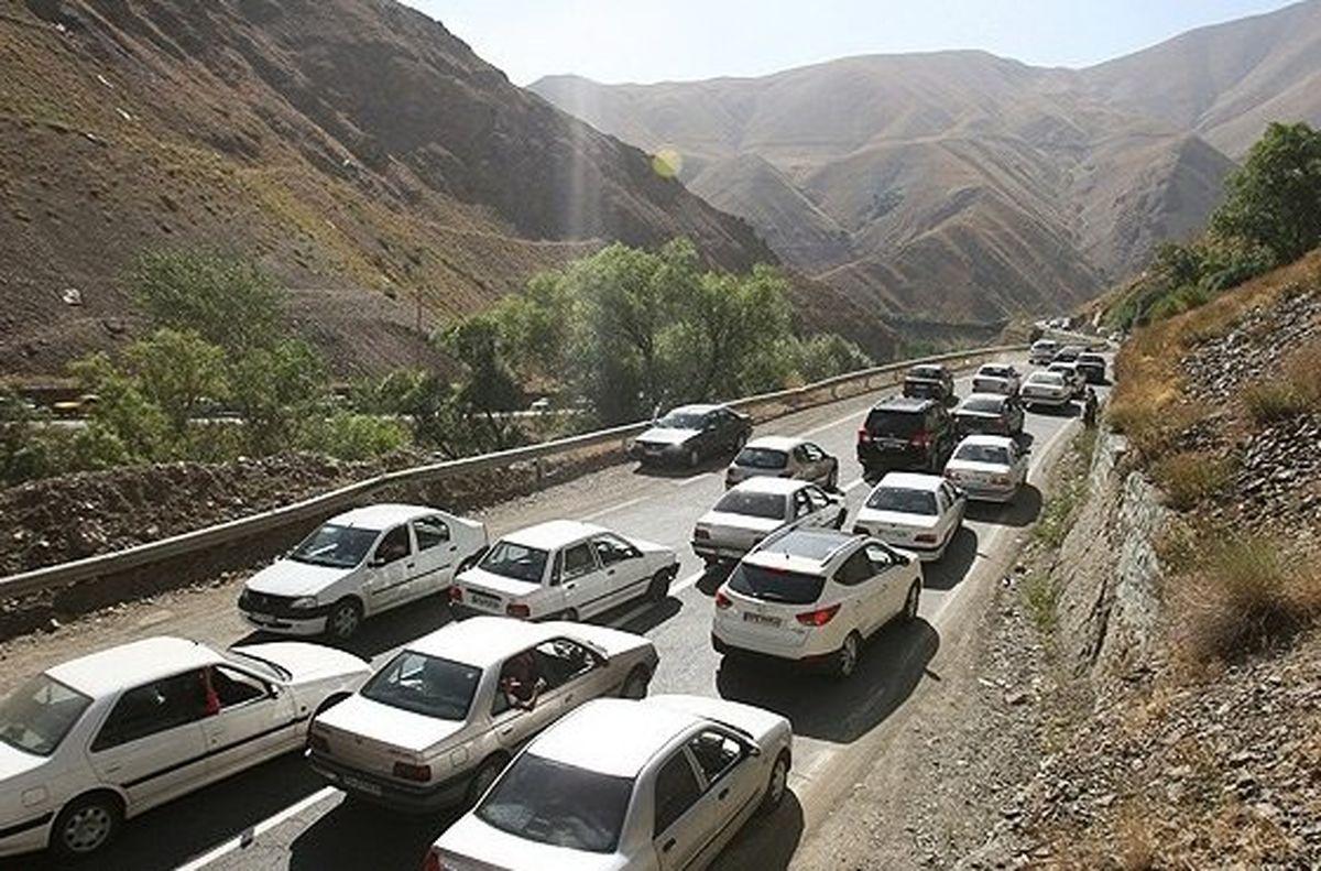 ترافیک سنگین صبحگاهی در جاده هراز و کندوان