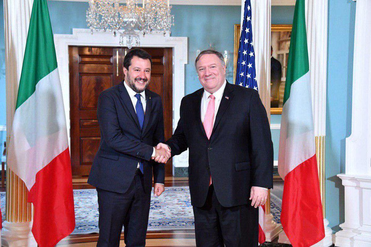 رایزنیهای ضد ایرانی پامپئو با ماتئو سالوینی در واشنگتن