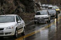 بارش باران در محورهای پنج استان