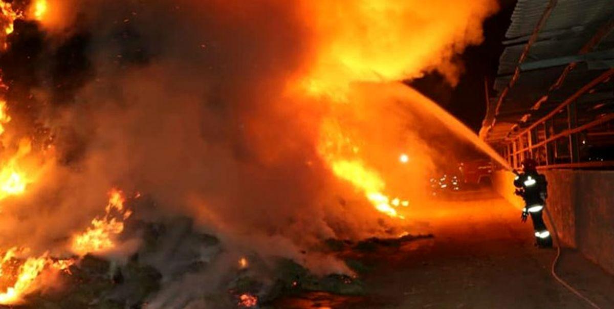 آتشسوزی گسترده در گمرک مرزی افغانستان با ایران +فیلم